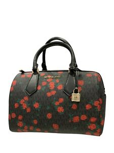 c93026cceb6f41 Michael Kors Hayes Grayson Large Duffle Satchel Bag MK Signature   eBay