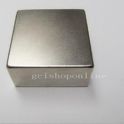 "N42 Neodymium 50*50*25mm block Permanent rare earth magnet super strong 2""x2""x1"""