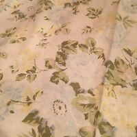 Rachel Ashwell Shabby Chic Fabric Cluster Oyster Blue 1 Yd Cottage Roses