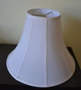 Lamp Shade 13 Ivory Vintage Classic Bell Fabric Lined Standard Table Shade Ebay