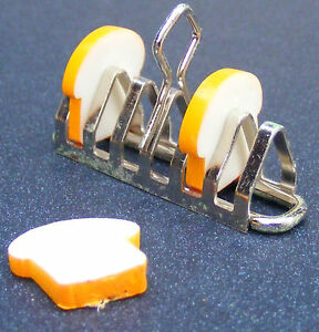 1-12-Scale-Metal-Toast-Rack-amp-3-Slices-Of-Bread-Tumdee-Dolls-House-Miniature
