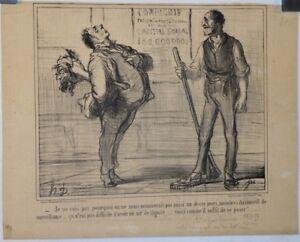 Hospitalier Lithographie De Daumier, Croquis Parisien