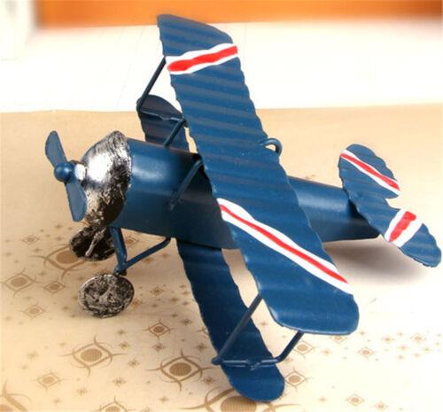 Mini Vintage Metal Plane Model Aircraft Glider Biplane Airplane Model KidsToyHI