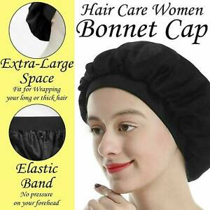 Bonnet-Women-Soft-Pure-Satin-Silk-Sleeping-Cap-Night-Sleep-Hat-Hair-Care-Scarves