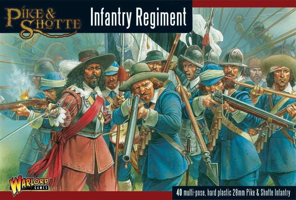 Warlord Games Pike and Shotte Infantry Regiment 28mm Tabletop Musketen Predect