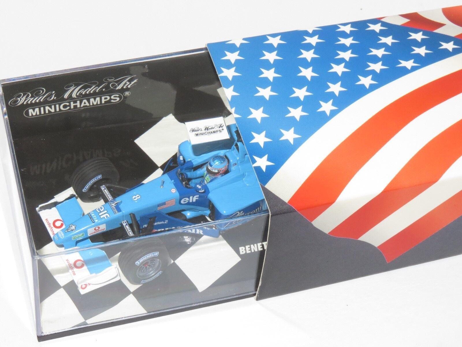 1 43 BENETTON  RENAULT SPORT B201 Jenson Button USA GP INDIANAPOLIS 2001  prix ultra bas