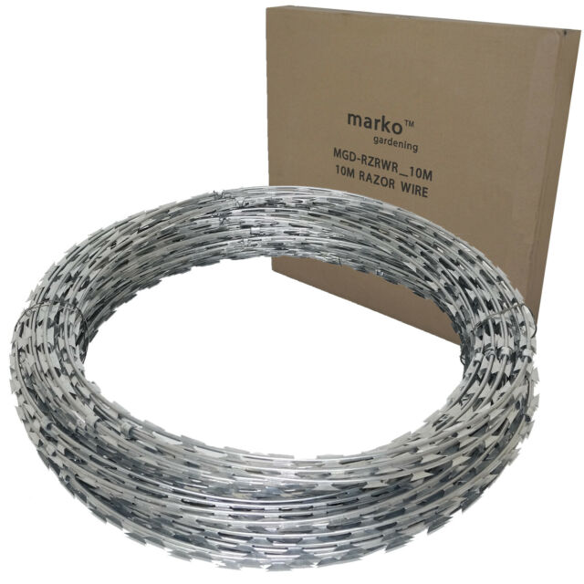 Roll Of Razor Wire x 1 Easipet Razor Wire 65m Roll Concertina Type Security Fencing