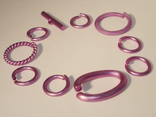 Los conectores anillos mordaza cierre Mix set 10 piezas 14-27mm violeta #l41