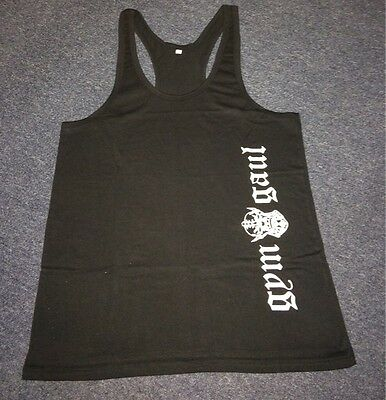 bodybuilding gym was £9.99 M-XXXL GYM GAUL OLD ENGLISH VEST black