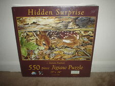 550 PC. SUNSOUT (HIDDEN SURPRISE- DEER- BY JEANETTE FOURNIER) JIGSAW PUZZLE NEW