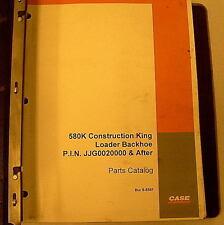 Case 580k Construction King Loader Backhoe Parts Manual Bur 8 5581