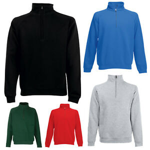 Fruit of the Loom Mens Zip Neck Sweatshirt