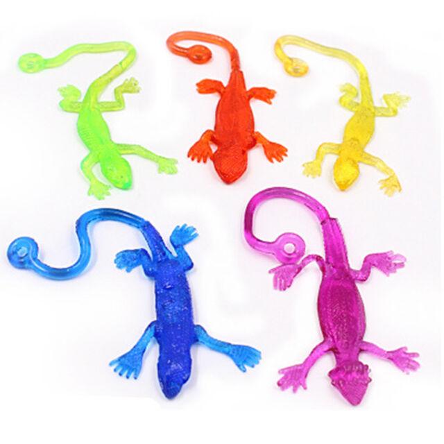 5pcs Creative Sticky Lizard Animals Retractable Viscous Lizard Kid