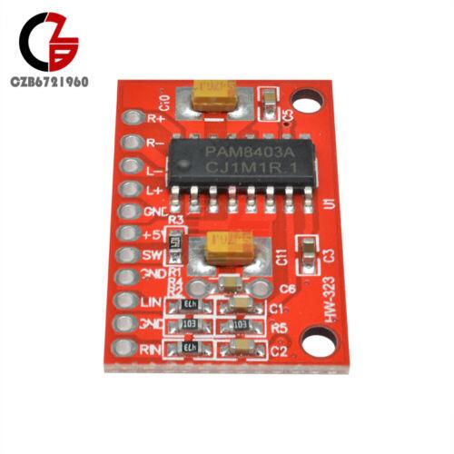 5Pcs 3W×2 Mini Digital Power Audio Amplifier Board USB 5V Power Supply Arduino M