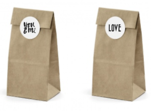 Image Is Loading 6 Kraft Brown Sweet Candy Cart Paper Bags