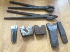 Blacksmith Starter Kit 8 Hand Forged Tong,Turning Hardy Hot Cut & Cold Chisels