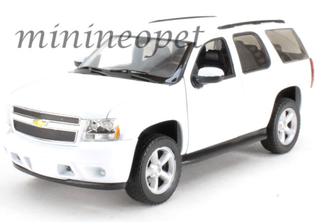 Welly 22509w Wh 2008 08 Chevrolet Tahoe Suv 1 24 Cast Model Car White