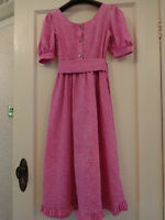 1970's Vintage Pink Ditsy Laura Ashley Dress Made In Carno Wales Size 4 6 REDUCE