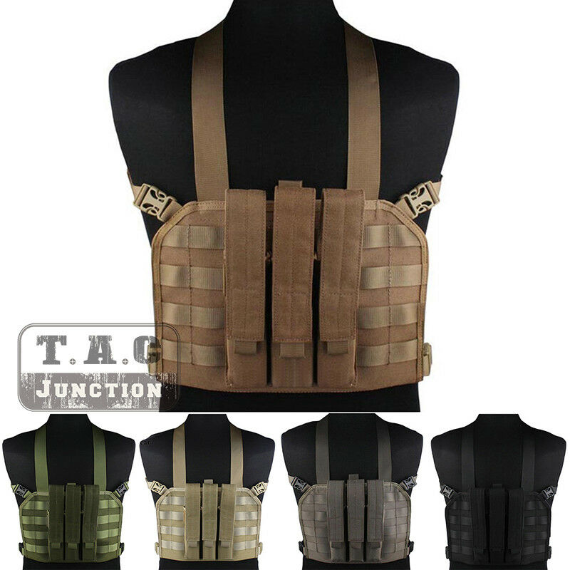 Emerson Tactical High Speed Operator MOLLE Chest Rig Vest w  SMG Magazine Pouch