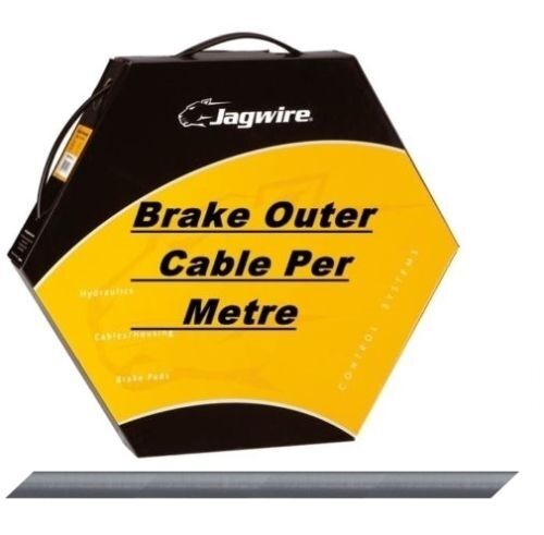 Jagwire Bike Brake Outer Cable Low-Friction Polymer Lined  Ice Grey 5mm Diameter