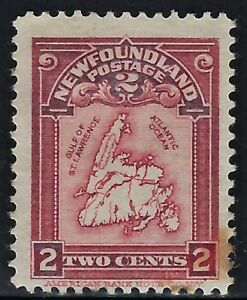 NEWFOUNDLAND-CANADA-1908-Scts-86-Mint-H-Fine-034-Map-of-Newfoundland-034