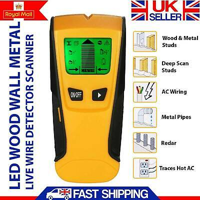 WALL STUD CENTER FINDER METAL AC LIVE WIRE DETECTOR 3 IN 1 WOOD COPPER LE YELLOW