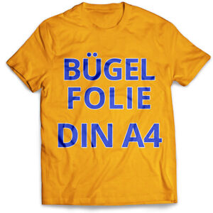 DIN-A4-T-Shirt-Transferfolie-Buegelfolie-Folie-fuer-helle-dunkle-Stoffe