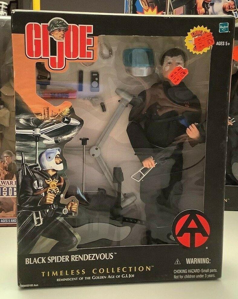 Vintage 2002 Hasbro GI JOE Timeless Collection schwarz SPIDER RENDEZVOUS SEALED  A