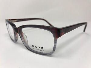 5ef083122e9 Kliik Eyeglass Frame K-541 Cherry Red Silver Frame 50-17-140mm QK01 ...