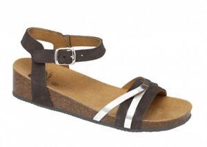 Camoscio Scholl Zeppa Pantofole Sandali Kelly Donna Bioprint Zoccoli Ciabatte awaFqrBx