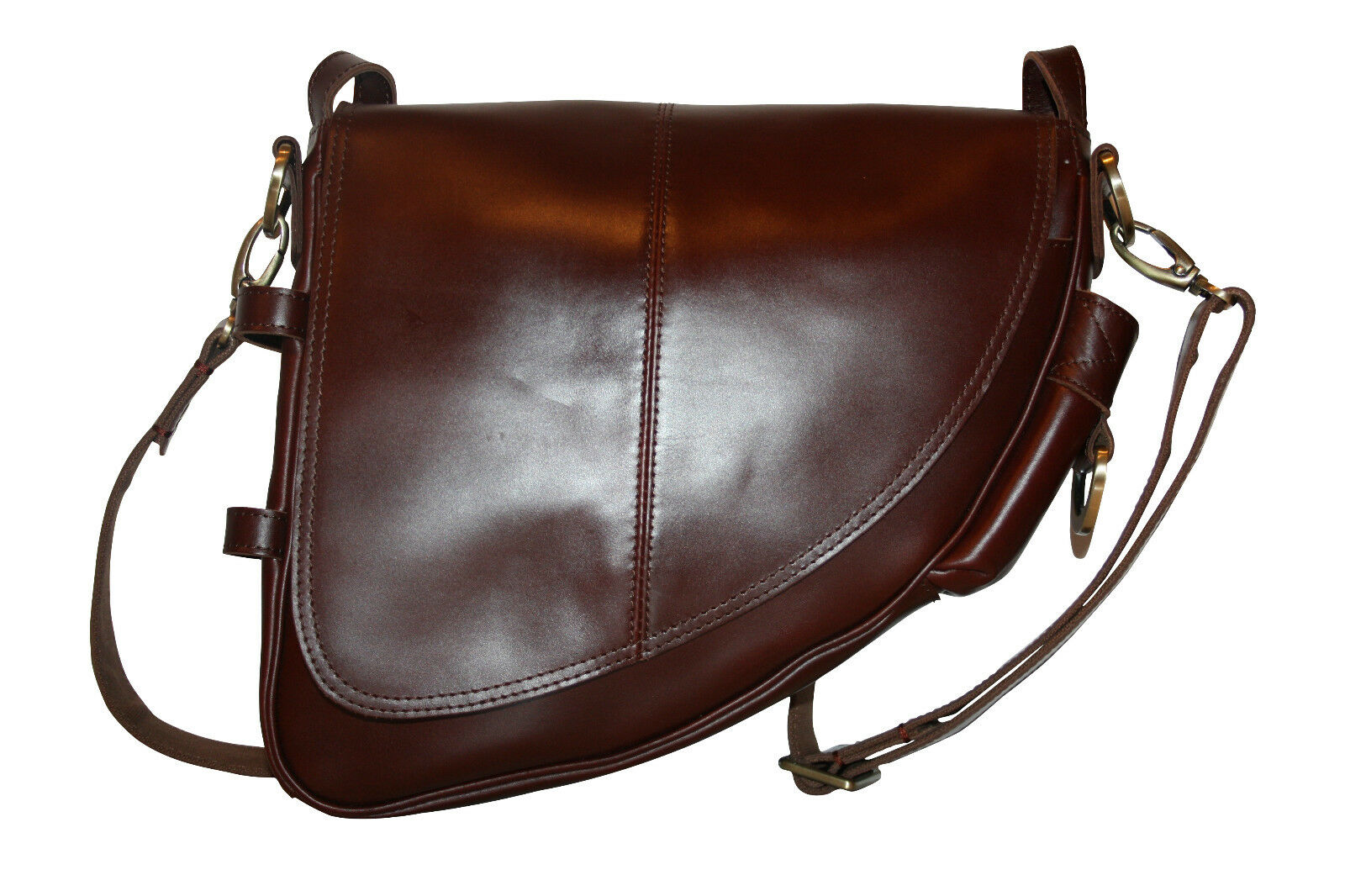 Genuine Leather Bicycle Frame Bag