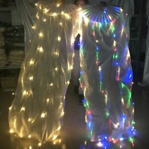 LED-Fan-Veils-Praise-Worship-Glow-Light-Dancing-Prop-Belly-Dance-Silk-Fan-Veil