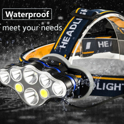 6//7//8 LED Beads Super Bright headlight COB Glare Head Lamp Torches waterproof UK