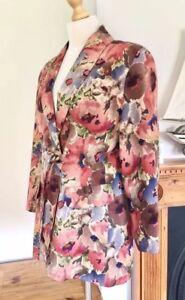 Liberty Ladies Jacket Rare M Printed L Vintage Størrelse Smart Floral FpHrwqF