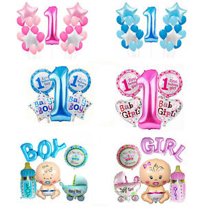 Joyeux-1st-Anniversaire-Ballons-Bunting-Banniere-Baby-Boy-Girl-Birthday-Party-Decor