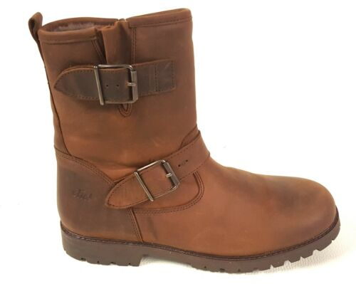 40 Boots Damen Leder Stiefel Clic Size Warm Bikerboots Gefüttert 6Pwqq8xf