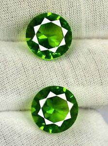 10 Carat Pakistan Peridot 100% Natural Gems Pair Round 11 x 11 mm Certified SG63