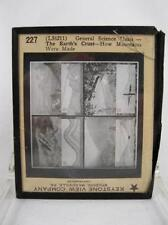 Magic Lantern Glass Slide The Earths Crust How Mountains Were Made (O) AS IS