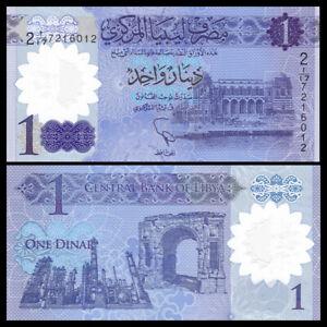 2019 LIBYA 1 DINAR ND P-NEW UNC POLYMER LOT 10 PCS