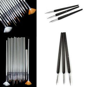 Nail-Art-suministros-Nail-Art-Pen-Cepillo-Plumas-artista-Unas-Pintura-Dibujo-De-Moda