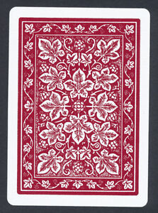 Bicycle Leaf Back Red Playing Card Single Swap Ace Of