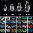 6x12mm 8x13mm 8x16mm 10x20mm Teardrop Faceted Crystal Glass Loose Beads Pendants