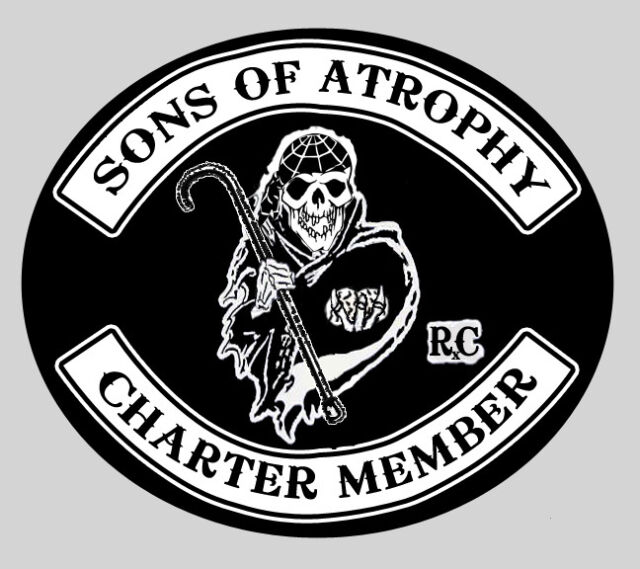 Sons of Anarchy - oops Atrophy -- embroidered patch
