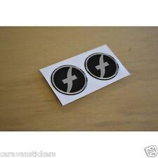 FLEETWOOD Caravan - (STYLE 3)(RESIN DOMED) - Wheelcap Stickers Graphics - PAIR