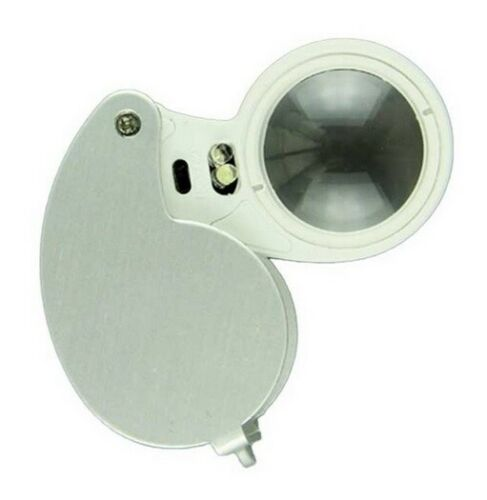 LED Illuminated Jewellers Jewellery Loupe Magnifying Glass Eye Lens 40 x 25mm