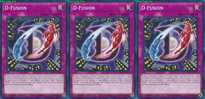 D-Fusion LEHD-ENA30 X 3 Mint YUGIOH Normal Trap Card