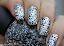 OPI Gwen Holiday I'LL TINSEL YOU IN Black White Confetti Glitter Nail Polish F15