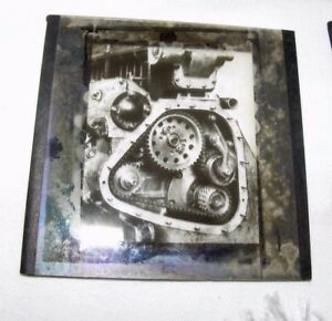 VINTAGE-MAGIC-LANTERN-SLIDE-OF-WHEELS-COGS-MACHINERY-MECHANICAL-STEAMPUNK