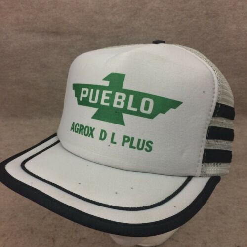Pueblo Vtg 3 Stripe Snapback Mesh Trucker Hat Otto