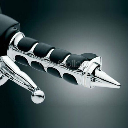 "7//8/"" Bullet Chrome Hand Grips Fit Yamaha Virago XV 250 500 535 700 750 920 1100"